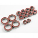 High Grade Ball Bearing Set, 5x10x4mm 8pcs, 10x15x4mm 4pcs, Pink/Blue Seal
