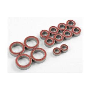 High Grade Ball Bearing Set, 5x10x4mm 8pcs, 10x15x4mm 4pcs, Pink/Blue Seal