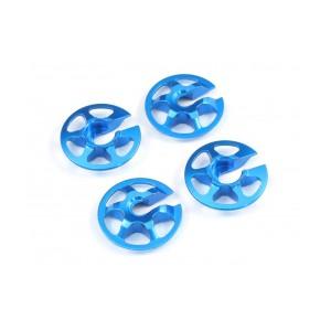 Radtec - Aluminum Lightweight Spring Retainers, 4 pcs, Blue