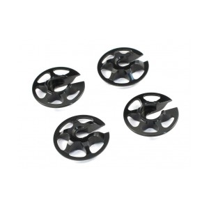 Radtec - Aluminum Lightweight Spring Retainers, 4 pcs, Black