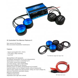 MuchMore IC Controlled Tire Warmer Platinum II Blue