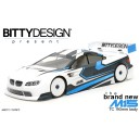 Bitty Design M15 190mm 1/10 TC Clear body - Lightweight
