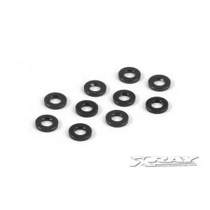 XRAY Aluminum Shim 3,0 x 6,0 x 1,0mm - Black