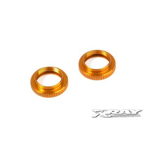 XRAY T4 Aluminum Shock Adjustable Nut - Orange