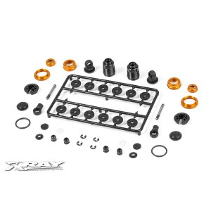 XRAY T4 Aluminum Shock Absorber Set - Orange
