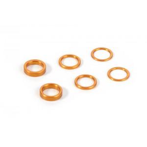XRAY Unterlegscheiben Set (0.5mm, 1.0mm, 2.0mm) Orange