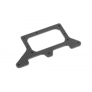 X-Ray X1 Tuning Carbon Rear Pod Platte - 2.0mm - Asphalt
