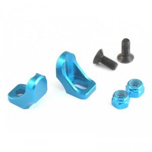 Roche - Aluminum Adjustable Battery Holder Set for TRF417/418/419, Light Blue