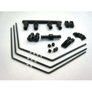 Yokomo Front Anti-Roll Bar Set (Black) for BD-7/RS