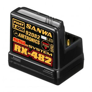 Sanwa RX-482 Empfänger 2.4GHz FH4, 4-Kanal, SSR,SSL, integrierte Antenne