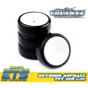 Volante V5 Tough 36R 1/10 TC Outdoor Rubber Tire Pre-glued 4pcs