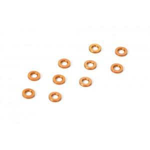 XRAY Aluminum Shim 3,0 x 6,0 x 0.5mm - Orange (10)