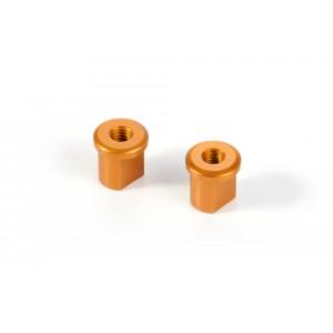 XRAY X12 Alu Eccentric Bushing 0.0mm - Orange (2)