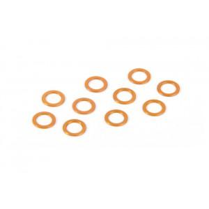 XRAY  - X12  Alu Unterlegscheiben 5.3x7.8x0.5mm - ORANGE (10)