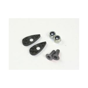 Roche Carbon Rear Wing Support Set, Screw Color: Titanium