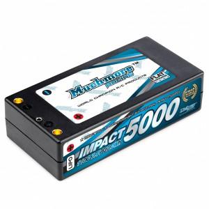 Muchmore IMPACT 5000mAh/7.4V 110C FD2 Li-Po Battery Shorty Flat Hard Case