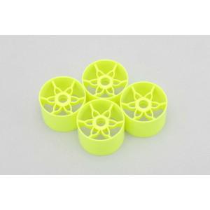 Yokomo Front Wheel (Yellow 4pcs) for YRX12