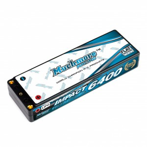 Muchmore IMPACT 6400mAh/7.4V 110C Linear LCG FD2 Li-Po Battery Flat Hard Case