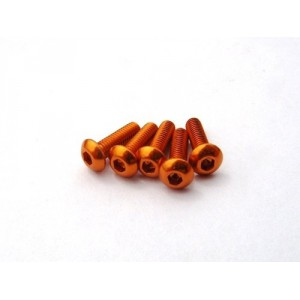 Hiro Seiko Alloy Hex Socket Button Head Screw M3x6 [Orange] ( 5 pcs)