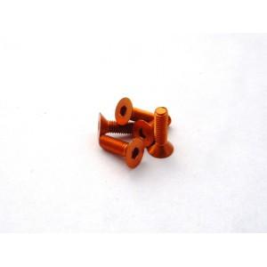 Hiro Seiko Alloy Hex Socket Flat Head Screw M3x8 [Orange] ( 5 pcs)