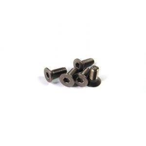 Hiro Seiko Titanium Hex Socket Flat Head Screw M3x15 ( 4 pcs)