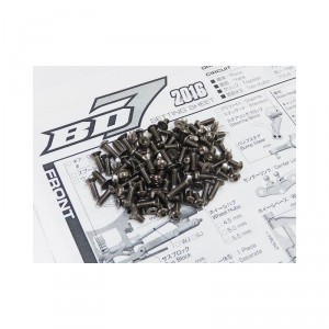 Hiro Seiko BD7 16 Titanium Hex Socket Screw Set