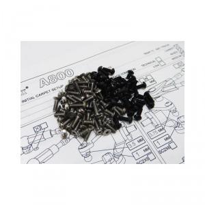 Hiro Seiko A800 Titanium & Alloy Hex Socket Screw Set (Black)