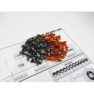 Hiro Seiko X10 16 Titan & Alum Hex Socket Screw Set