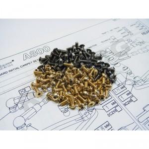 Hiro Seiko A800 Titan & Alum Hex Socket Screw Set (Gold) 108pcs