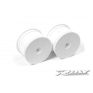 XRAY Rear Wheels Aerodisk - White (2)