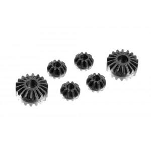 XRAY Graphite Gear Diff Bevel & Satellite Gears (2+4) lower