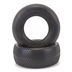 Schumacher Mini Pin Short Course Tires Hard - Blue