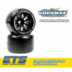 Volante F1 Rear Rubber Slick Tires Carpet Soft Compound Preglued
