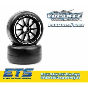 Volante F1 Front Rubber Slick Tires Medium Soft Compound Preglued
