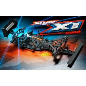XRAY 370703 - X1 2018 - 1:10 Formel 1 - Baukasten inkl. Karosserie und Flügel