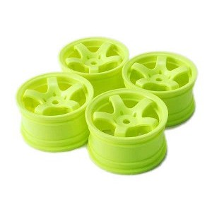 Sweep Minis Wheels only, 5 Spoke Type-A Yellow (4)